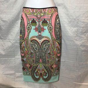 Bisou Bisou Michele Bohbot Midi Skirt